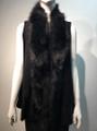 New! Elegant Women's - Faux Fur  Poncho Vest  Cape Black # P222-1