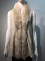 New! Elegant Women's - Faux Fur  Poncho Vest  Cape Beige # P222-2