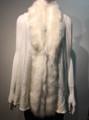 New! Elegant Women's - Faux Fur  Poncho Vest  Cape Ivory # P222-3