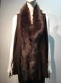 New! Elegant Women's - Faux Fur  Poncho Vest  Cape Coffee # P222-4