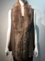 New! Elegant Women's - Faux Fur  Poncho Vest  Cape Taupe # P222-5