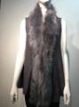 New! Elegant Women's - Faux Fur  Poncho Vest  Cape Gray # P222-8