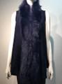 New! Elegant Women's - Faux Fur  Poncho Vest  Cape Navy # P222-10