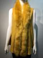 New! Elegant Women's - Faux Fur  Poncho Vest  Cape Mustard Yellow # P222-11