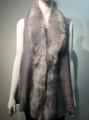 New! Elegant Women's - Faux Fur  Poncho Vest  Cape Light Gray # P222-12