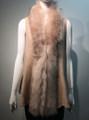 New! Elegant Women's - Faux Fur  Poncho Vest  Cape Pink # P222-6