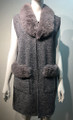 New! Elegant Women's - Faux Fur  Poncho  Cape  Gray # P223-6