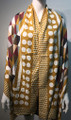 New ! Large Soft  Polka Dot Cashmere Feel Scarf  Gold # 967-6