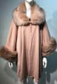 Elegant Women's - Faux Fur  Poncho Cape Pink # P206-6