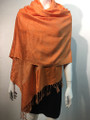 Pashmina Paisley  Orange  / Champagne #50-21