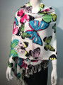 New!  Butterfly Print Pashmina  Assorted Dozen #3