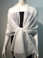 Solid Color  Scarf  White  #7011-8