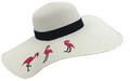 Womens Straw Hat Wide Brim Floppy Beach Cap  Assorted Dozen# H 8086