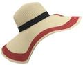 Fashion Wide Brim Adjustable Straw Sun Hat Assorted Dozen # H 8057