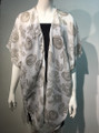 New ! Fashion Cover Up Summer Poncho Gray #8719-2