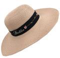 Fashion  Wide Brim Adjustable Straw Sun Hat Assorted Dozen # H 8052