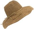 Fashion Foldable Straw Sun Hat Khaki # H 8058-6