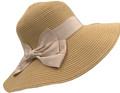Fashion Foldable Straw Sun Hat Khaki # H 8060-2