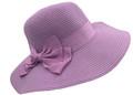 Fashion Foldable Straw Sun Hat Lavender # H 8060-7