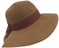 Fashion Foldable Straw Sun Hat Brown # H 8060-8