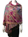 New!   Metallic Pashmina  Hot Pink Dozen # S15-1
