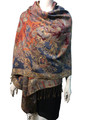 New!   Metallic Pashmina Black Dozen # S15-5