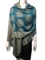 New!  Multicolor Paisley Pashmina Turquoise Dozen #8-4