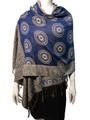 New!  Multicolor Paisley Pashmina Royal Blue Dozen #8-5