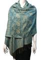 New!  Multicolor Paisley Pashmina Turquoise Dozen #10-1