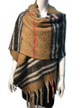 New !   Fashion Long Soft Plaid warm Shawl Scarf  Assorted Dozen # 985