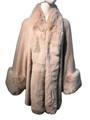 New! Elegant Women's - Faux Fur  Poncho  Cape Pink  # P241-3