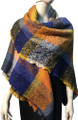 Womens Blanket Scarf Winter Soft  Wrap Shawl  Royal Blue # S 993-2