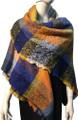 Womens Blanket Scarf Winter Soft  Wrap Shawl  Royal Blue # S 993-2