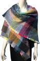 Womens Blanket Scarf Winter Soft  Wrap Shawl  Navy # S 993-5