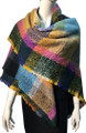 Womens Blanket Scarf Winter Soft  Wrap Shawl  Turquoise # S 993-6