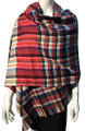 New !   Fashion Long Soft Plaid warm Shawl Scarf  Assorted Dozen # 996