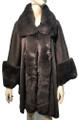 New! Elegant Women's - Faux Fur  Poncho  Cape   Dark Gray # P242-4