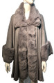 New! Elegant Women's - Faux Fur  Poncho  Cape   Light Gray # P242-7