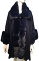 New! Elegant Women's - Faux Fur  Poncho  Cape   Navy # P242-8