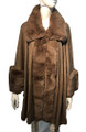 New! Elegant Women's - Faux Fur  Poncho  Cape   Taupe # P242-9