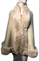 New! Elegant Women's - Faux Fur  Poncho  Cape   Beige # P207B-3
