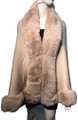 New! Elegant Women's - Faux Fur  Poncho  Cape   Pink # P207B-8