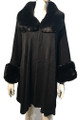 New! Elegant Women's - Faux Fur  Poncho  Cape Black # P244-1