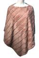 New! Elegant Women's - Faux Fur  Poncho  Cape Pink # P247-5
