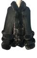 New! Elegant Women's - Faux Fur  Poncho  Cape Dark Green # P249-3