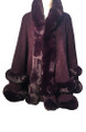 New! Elegant Women's - Faux Fur  Poncho  Cape Purple # P249-7