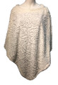 New ! Ladies' Stylish  Poncho White # P245-4