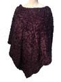 New ! Ladies' Stylish  Poncho Purple # P245-6