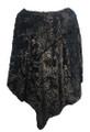New ! Ladies' Stylish  Poncho Black # P246-1