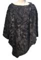 New ! Ladies' Stylish  Poncho Dark Gray # P246-2